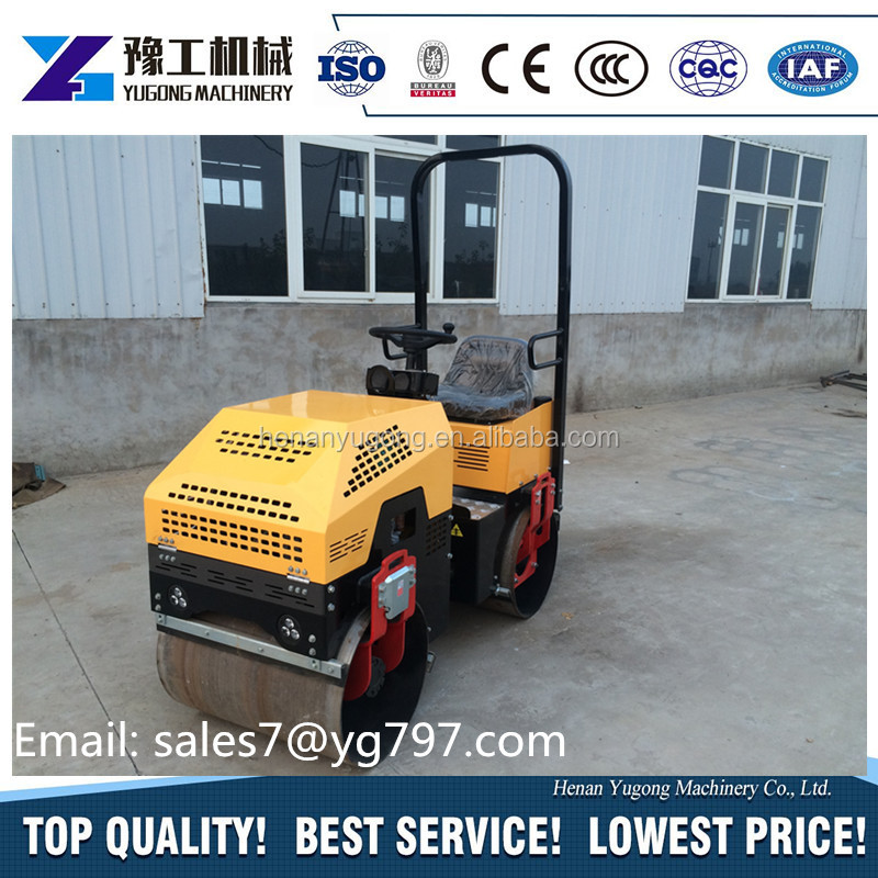 full hydraulic single drum pedestrian roller small size