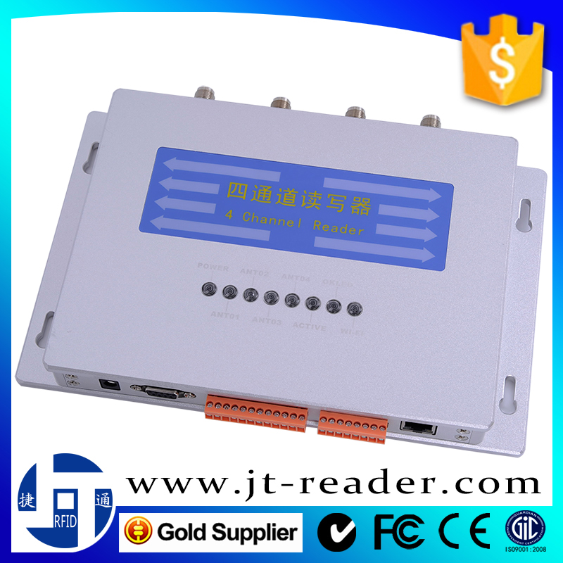 Impinj R2000 902~928MHz ISO 18000-6C WIFI/RS232 multi-tags reading UHF RFID 4 ports channel reader for warehouse management