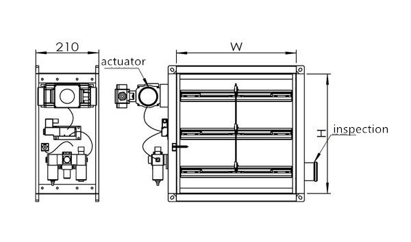 Hvac system advanced air duct fire damper buy duct fire for Motorized smoke fire damper