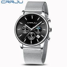 CRRJU мужские часы Reloj Hombre 2020 мужские s часы лучший бренд класса люкс кварцевые часы с большим циферблатом спортивные водонепроницаемые Relogio ...(Китай)