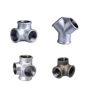China supplier ductile Iron 45 degree y tee pipe fitting