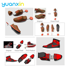 Your Customized Shoe Shape Branded Rubber PVC USB Flash Drive Giveaway Gift