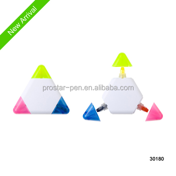 3 in 1 gel solid highlighter in triangle shape