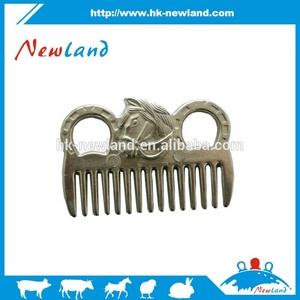 NL1316 Aluminium wholesale equine products of horse mane comb