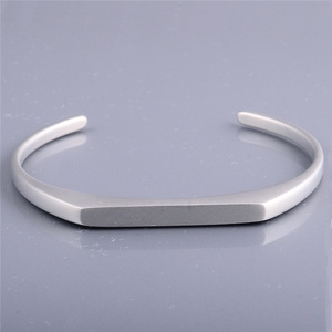 jewellery making matte silver women bracelet jewelry stainless steel gift bangle