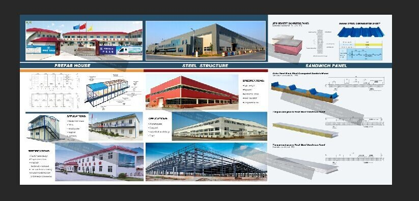High quality/long life span light steel / LGS villa