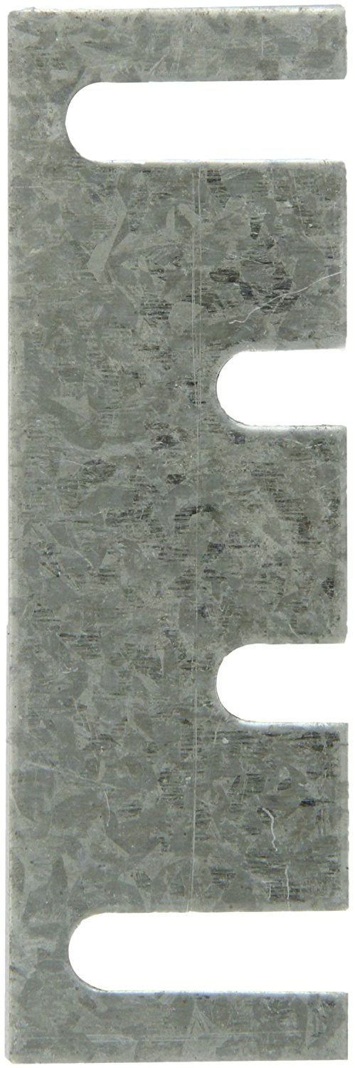 "Rockwood HS44 Steel Hinge Shim, 1-7/16"" Width x 4-1/2"" Height x 0.065"" Thick, Galvanized Coat Finish (Pack of 50)"