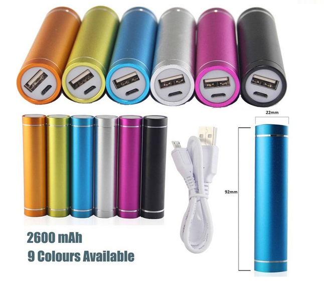 USA Backpack 2600mah Mobile Powerbank with OEM Logo for promotional gifts