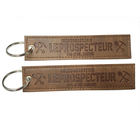 Custom New Product Marketing Gifts Promotion Embossed Leather Keychain