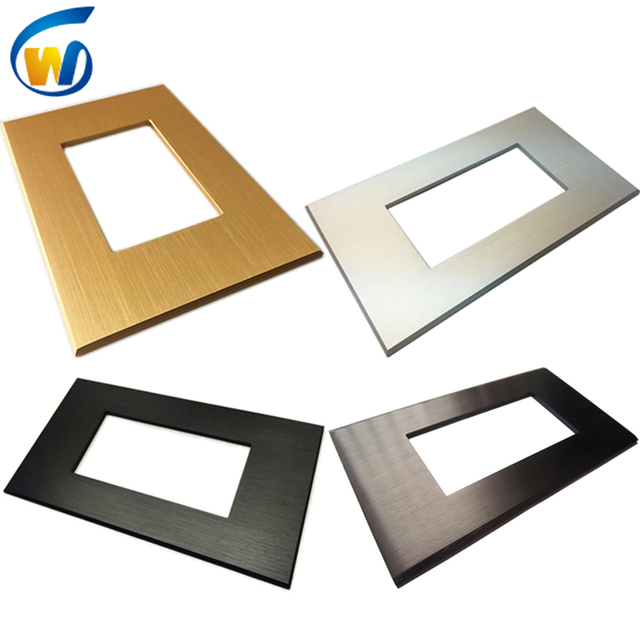 brushed color metal wall plates decor