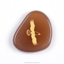 Wholesale Gifts engraved Natural Semi-Precious Stone Engraving Animal agate