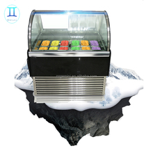italian Counter Top Mini Ice Cream Display Freezer / Mini Ice cream Freezer / Countertop Display Freezer