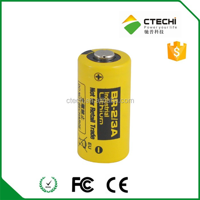 Original Japan BR2/3A lithium battery 3V 1200mah cylindrical battery cell