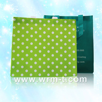 Gift Metallic Plastic non woven decorative reusable shopping bag