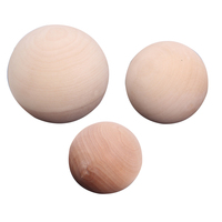 Manufacture custom eco-friendly natural unfinished durable wooden ornament balls set for craft