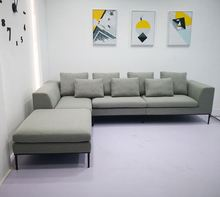 Nieuwe <span class=keywords><strong>ontwerp</strong></span> L vorm sofa Amerikaanse big size hoek modulaire sofa