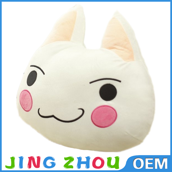 2015 new product plush 3D printing cat pillow . stuffed animal cushion