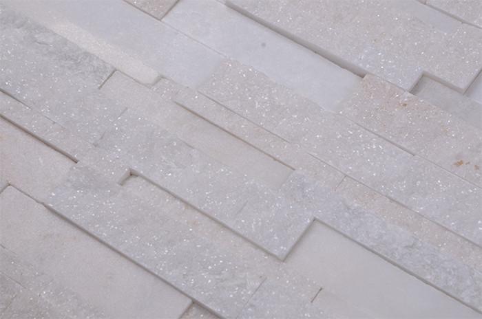 Indiano bianco quarzite mosaici cristallo di quarzo pietra mosaico