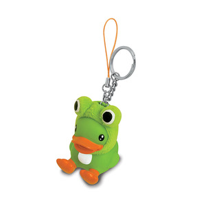 Wholesale 3D animal pvc custom magnetic key chain ring