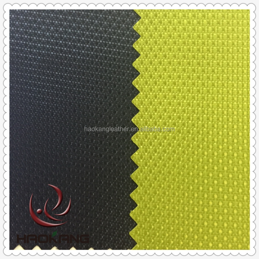 Waterproof pvc coating 420D fabric and textile dobby pattern