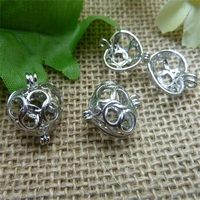 Filigree Heart hollow Cage Locket pendant,Diffuser Locket charms Fillable Lockets,wish box locket connector finding