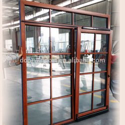 China doors and windows grill design and mosquito net chain winder awning window with manual crank
