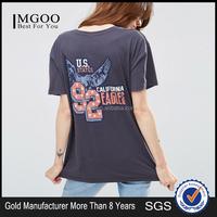 MGOO 100 Cotton Mill Wash Women Shirt Pretty Women Clothing Distressed Tshirt Custom Printing