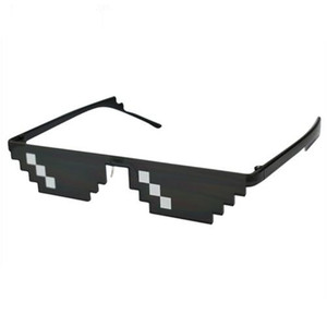 0f417e1f47 Teenyoun 2017 New Deal with it Glasses Thug Life Glasses Pixel Women Men  Sunglasses Black Mosaic