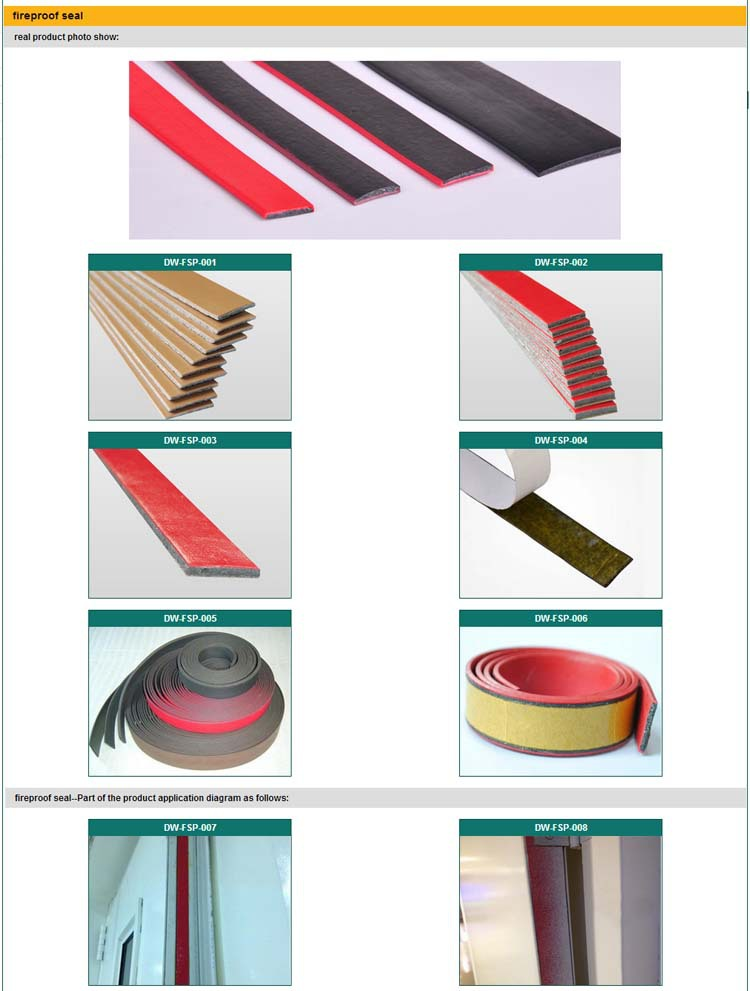 3m Adhesive Rubber Weather Strip Fire Proof Intumescent