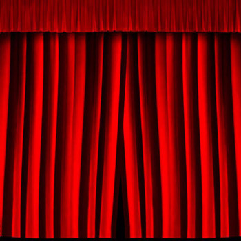 Custom Flame Retardant Velvet Church Stage Curtains