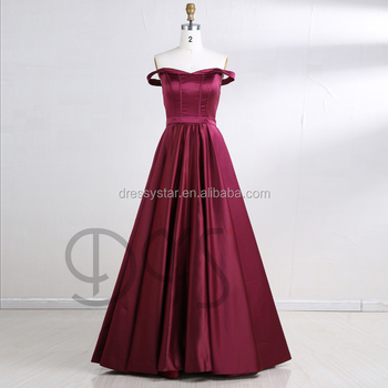Alibaba 2018 Burgundy Sexy Off-shoulder Princess Ball Gown Prom ...