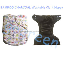 Bamboo Charcoal Baby Reusable Cloth Pocket Diaper Covers All in One Size Nappy