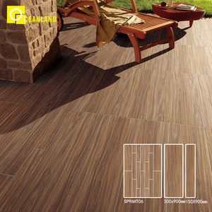 courtyard decor parquet wood glazed porcelain floor tiles in dubai