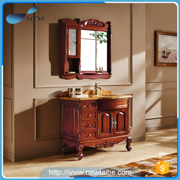 Nth 2017 New Product Yato Solid Wood Antique Clic Wooden Pace Rv Bathroom Cabinets