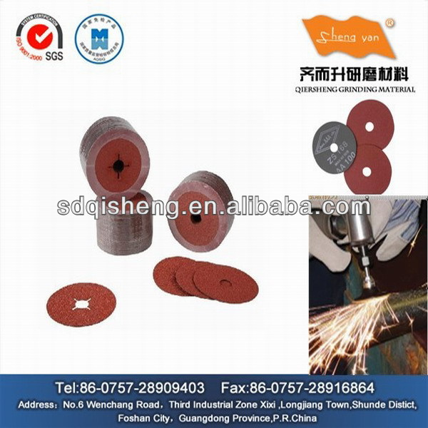 abrasive fiber disc for polishing