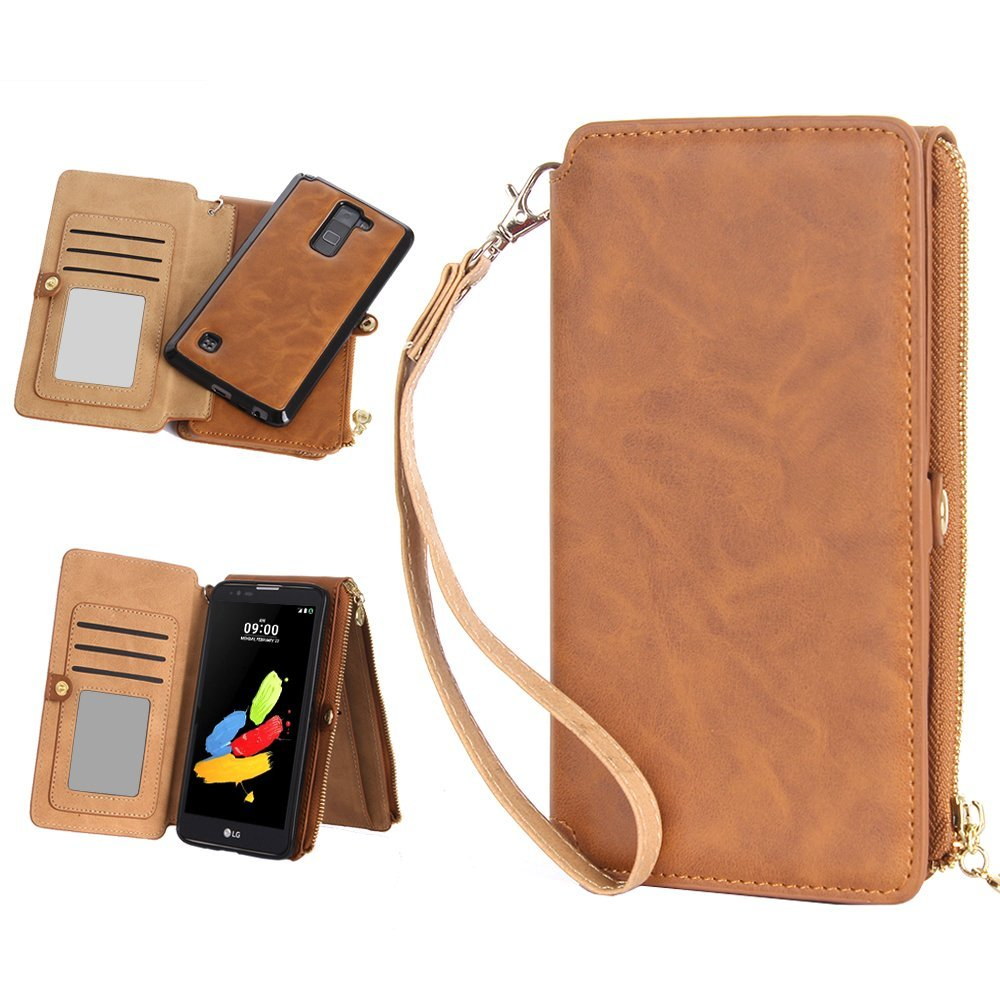buy online 26724 c8f1e Buy LG G Stylo 2 Case, LeCase 12 Card Holder Pro - [Zipper Cash ...