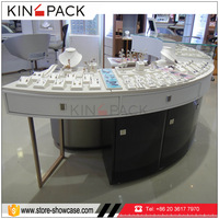 Simple style good quality mall jewelry store retail fixtures furniture display stand glass showcase cabinet for jewellery shows