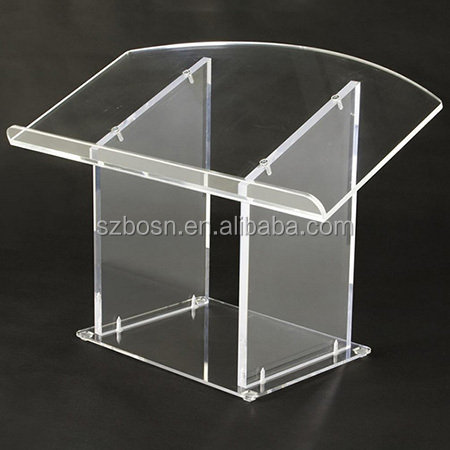 High Quality Clear Acrylic Table Top Podium, Easy Assembly