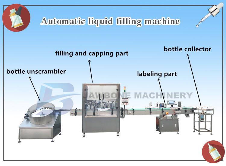 JB-YX2 Automatic 15ml 20ml nail polish filling machine, capping machine, glass bottle vape filler