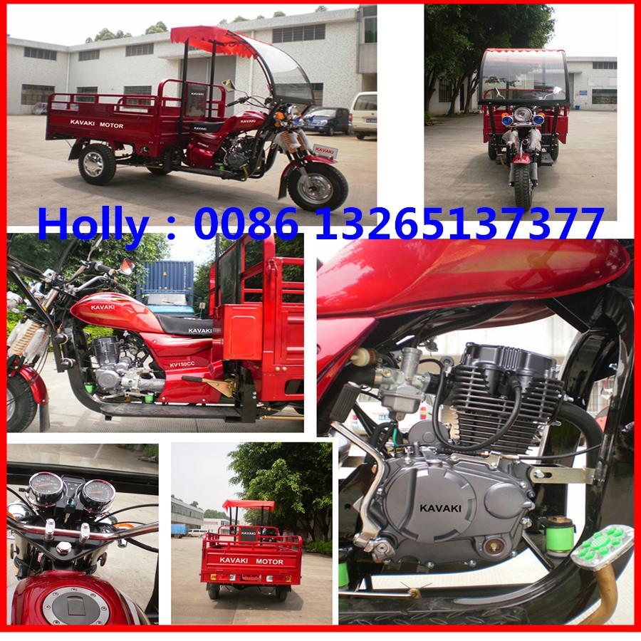 Guangdong Factory Three Wheel Cargo Motorcycles 3 Wheel