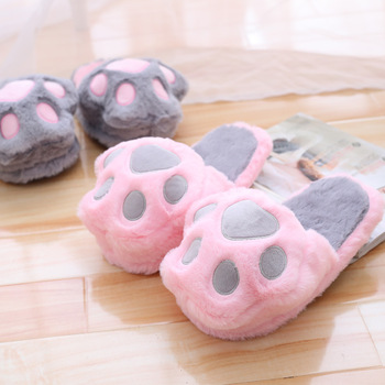 71268470849 Cute Winter Bear Paw Home Indoor Slippers - Buy Cheap Winter ...