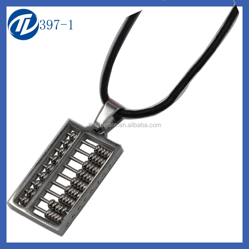 Fancy abacus pendant necklece jewelry wholesale counting frame pendants