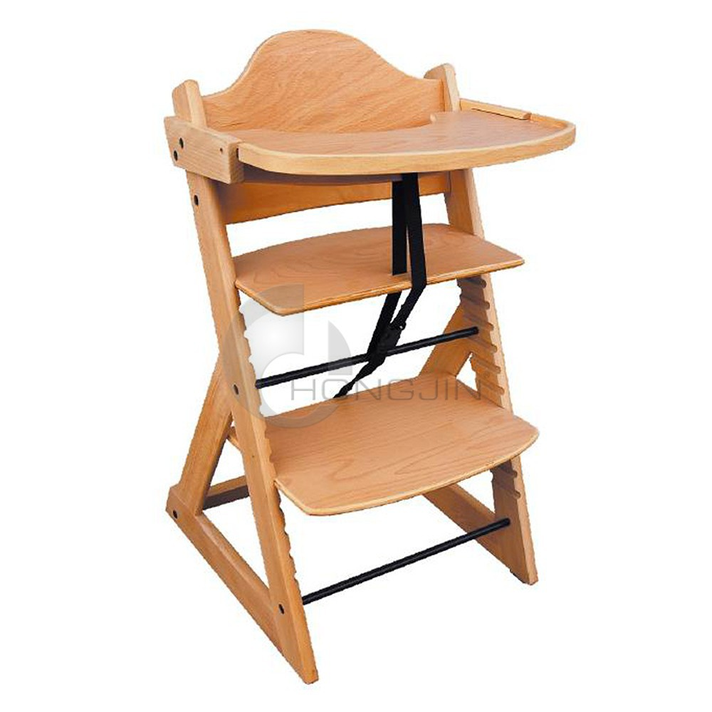 Baby chair for restaurant - Hongjin Durable Wood Baby Chairs For Restaurant