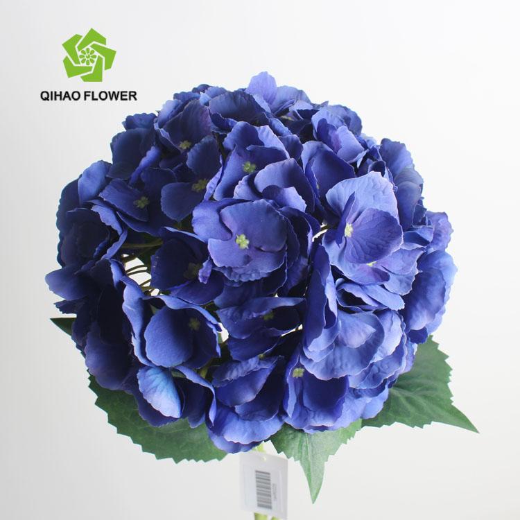 Cheap Artificial Fake Flower Single Stem Blue Hydrangea