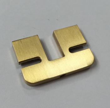 Brushed Brass Shelf Brackets