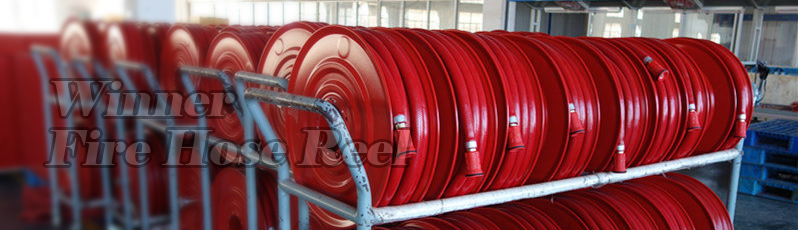 Red Powder Coated Swing Manual 1x 30M Fire Hose Reel