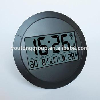 Digital Round Lcd Multifunction Wall Clock For Wholesale