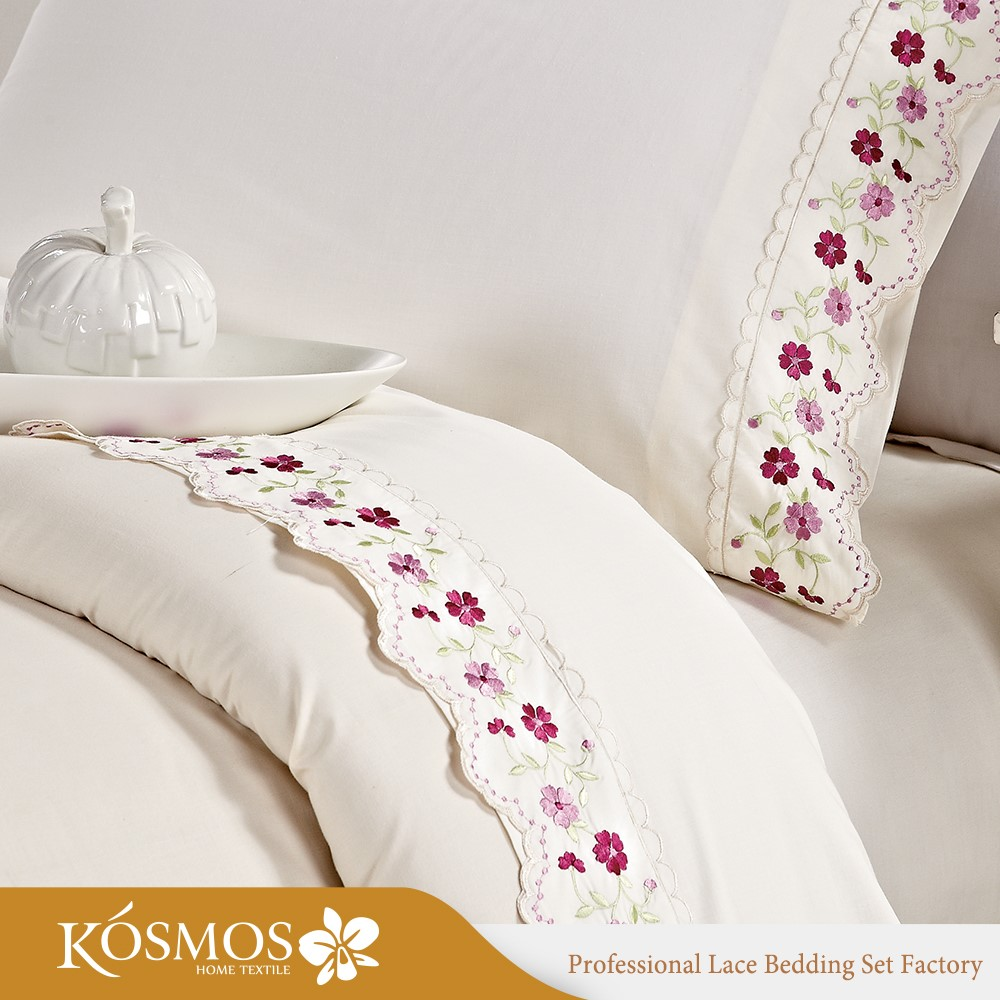 Ribbon work bed sheets designs - Home Polyester Cotton Luxury Duvet Cover Ribbon Work Bed Sheets Designs
