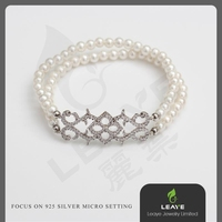 Fashionable 925 Silver Charm Pearl Jewelry Smart Bracelets Beads