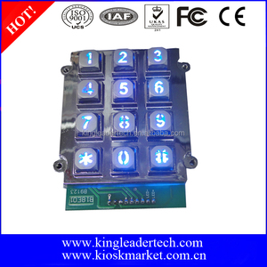 Telephone booth keypad 3x4 matrix with blue backlight